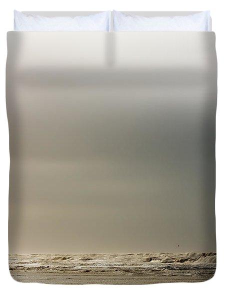 Stormy Beach Duvet Cover