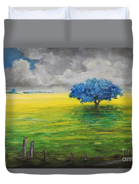Stormy Clouds Duvet Cover by Alicia Maury
