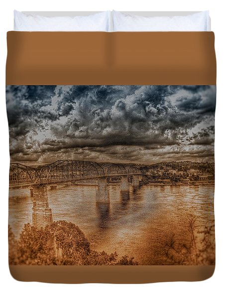 Duvet Cover featuring the photograph Stormy Clouds by Dennis Baswell
