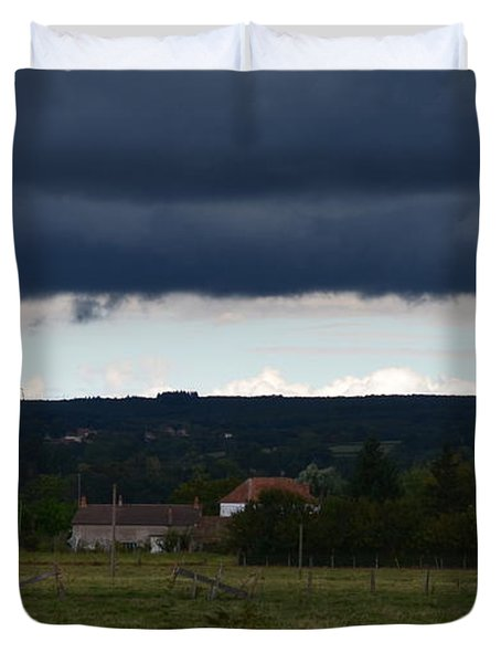 Stormy Countryside Duvet Cover