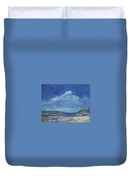 Stormy Day At Picnic Island Duvet Cover