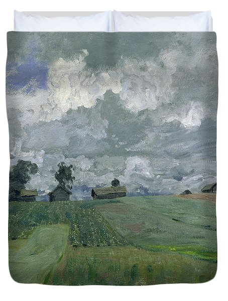 Stormy Day Duvet Cover by Isaak Ilyich Levitan