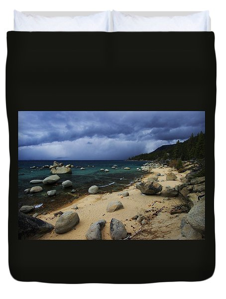 Duvet Cover featuring the photograph Stormy Days  by Sean Sarsfield