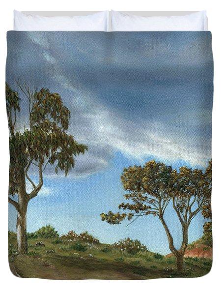 Stormy Eucalyptus Duvet Cover