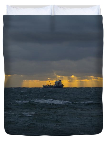Stormy Falmouth Duvet Cover