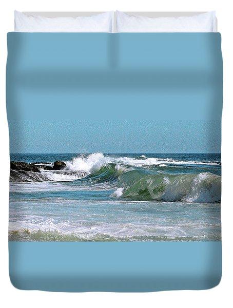 Stormy Lagune - Blue Seascape Duvet Cover by Ben and Raisa Gertsberg