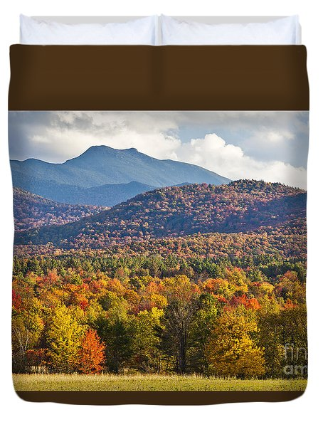 Stormy Mount Mansfield Duvet Cover