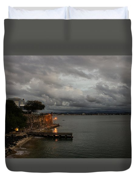 Duvet Cover featuring the photograph Stormy Puerto Rico  by Georgia Mizuleva