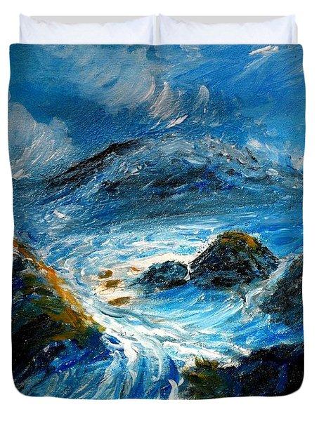 Stormy Sea Duvet Cover by Mauro Beniamino Muggianu