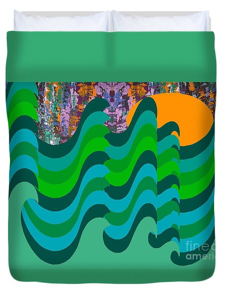 Stormy Sea Duvet Cover by Patrick J Murphy