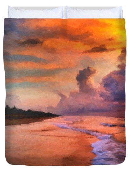 Stormy Skies Duvet Cover by Michael Pickett