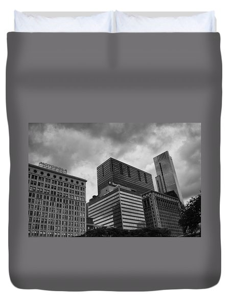 Duvet Cover featuring the photograph Stormy Skies by Miguel Winterpacht