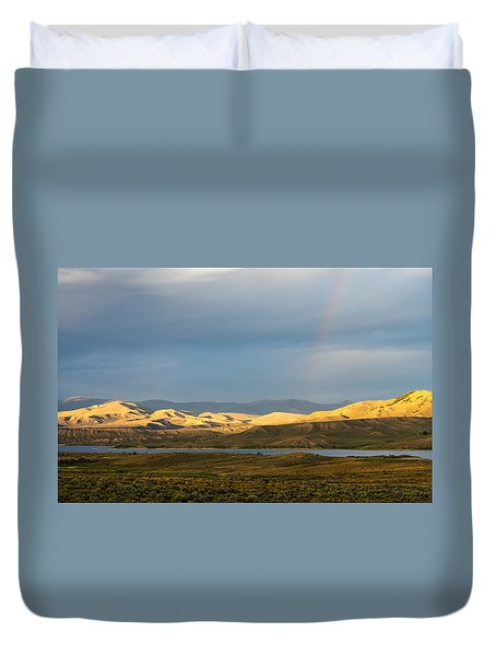 Stormy Sky With Rays Of Sunshine Duvet Cover