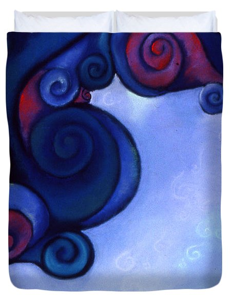 Duvet Cover featuring the pastel Stormy by Susan Will
