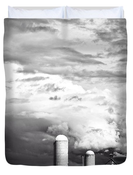 Stormy Weather On The Farm Duvet Cover by Edward Fielding