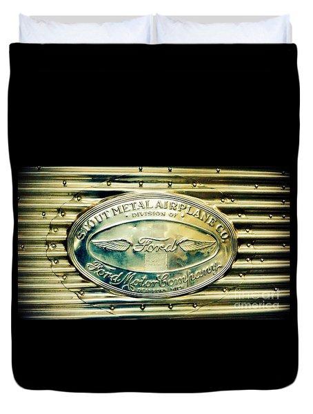 Stout Metal Airplane Co. Emblem Duvet Cover