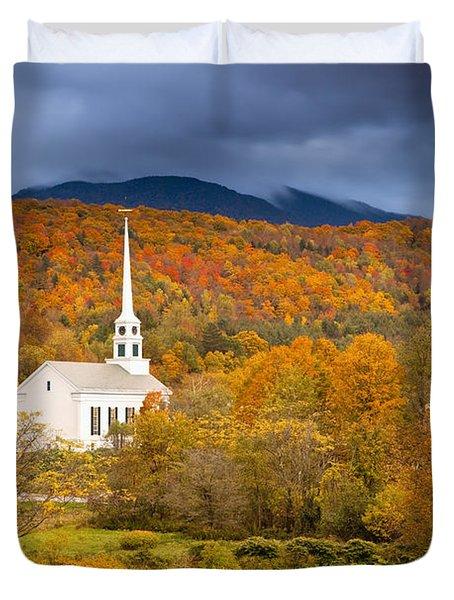 Stowe Church Duvet Cover by Brian Jannsen