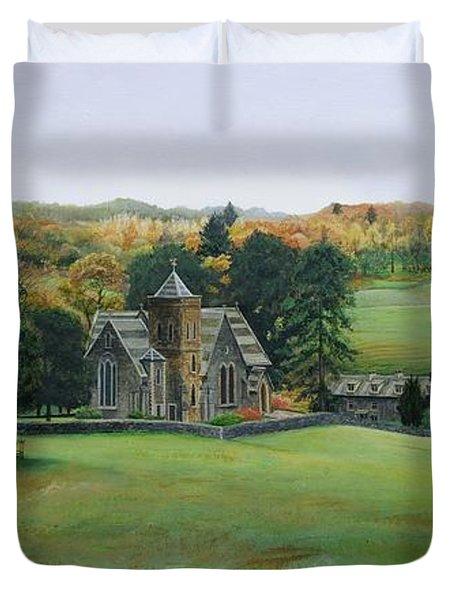St.peters Church, Cumbria, 2003 Oil On Canvas Duvet Cover