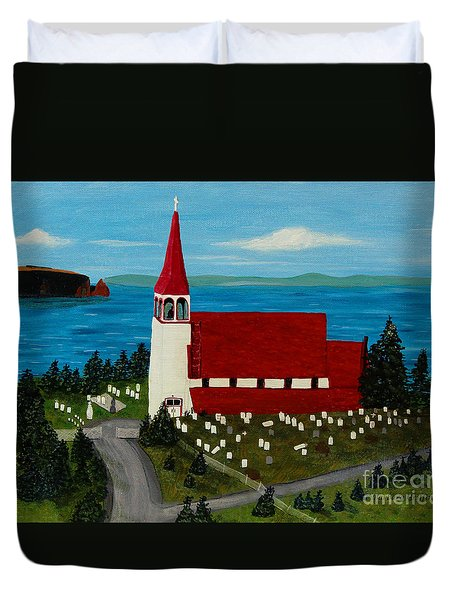 St.philip's Church 1999 Duvet Cover by Barbara Griffin