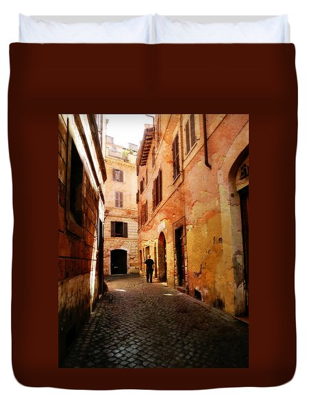 Duvet Cover featuring the photograph Strade Di Ciottoli by Micki Findlay