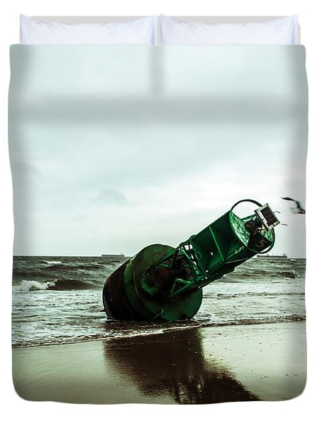 Duvet Cover featuring the photograph Stranded by Angela DeFrias