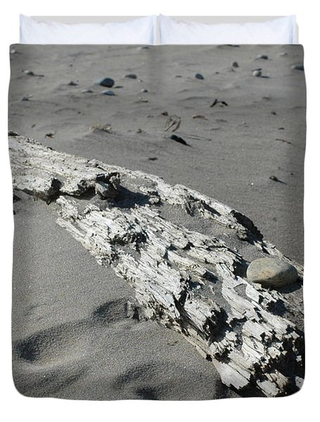 Duvet Cover featuring the photograph Stranded by Christiane Hellner-OBrien