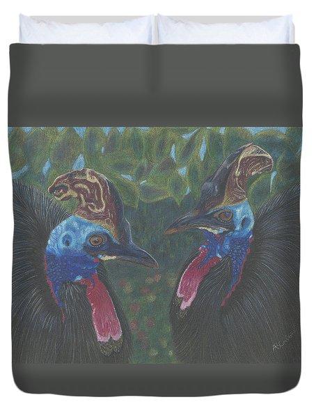 Strange Birds Duvet Cover