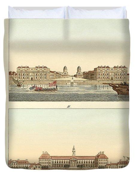 Strange Buildings In England Duvet Cover by Splendid Art Prints