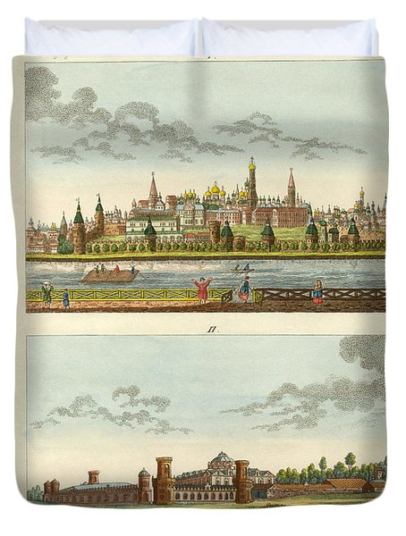 Strange Buildings In Russia Duvet Cover by Splendid Art Prints