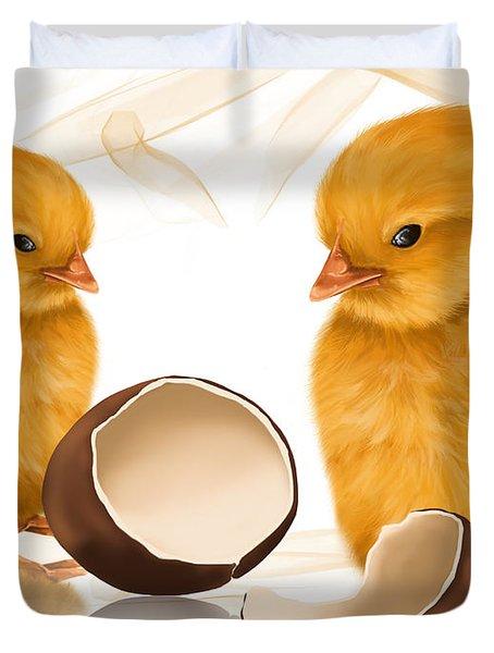 Strange Egg Duvet Cover