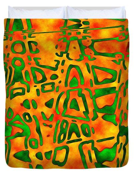 Strange Hieroglyphs Duvet Cover by Mark Blauhoefer
