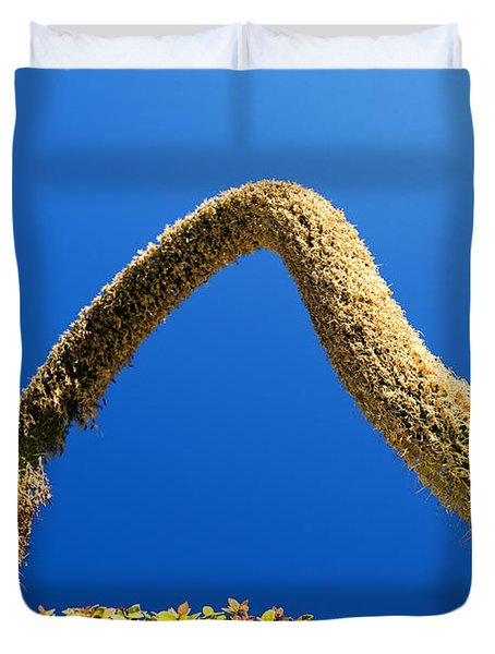 Strange Plant Under Blue Sky Duvet Cover by Yew Kwang