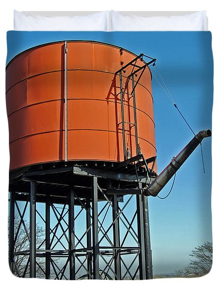 Strasburg Water Tower Duvet Cover by Skip Willits