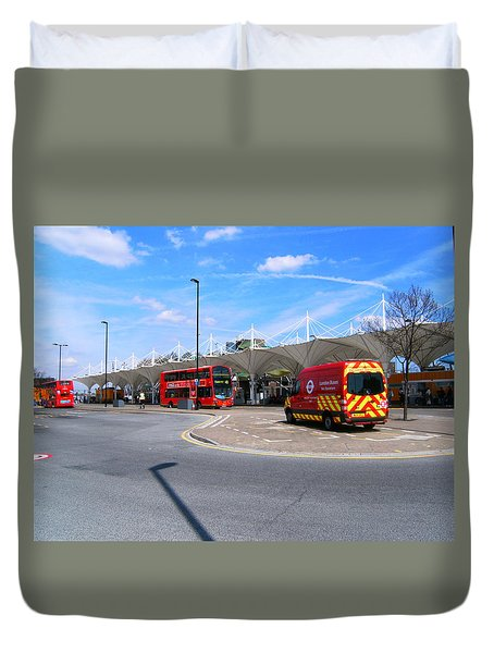 Duvet Cover featuring the photograph Stratford Bus Station Study 01 by Mudiama Kammoh