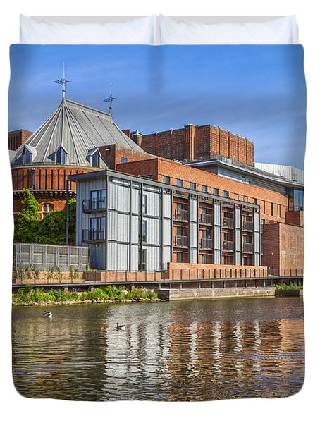 Stratford Upon Avon Royal Shakespeare Theatre Duvet Cover by Colin and Linda McKie