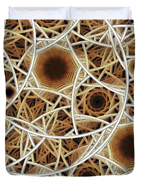 Straw Mosaic Duvet Cover by Anastasiya Malakhova