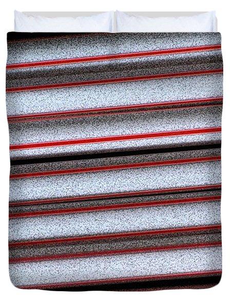 Straw Red Duvet Cover by Carol Lynch