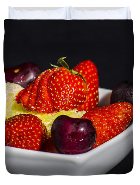 Strawberries And Cream Duvet Cover
