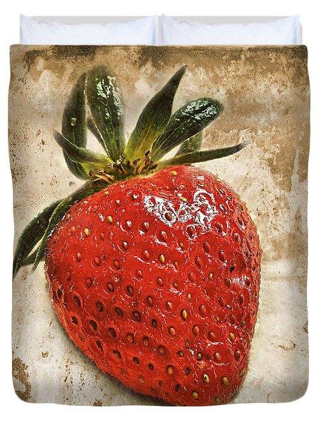 Strawberry  Duvet Cover by Barbara Orenya