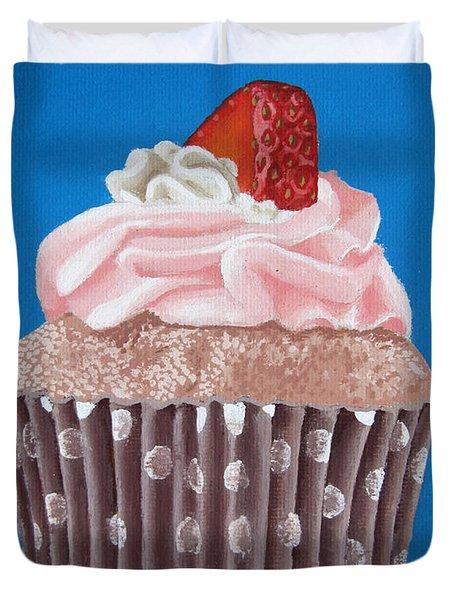 Strawberry Cupcake Duvet Cover by Kayleigh Semeniuk