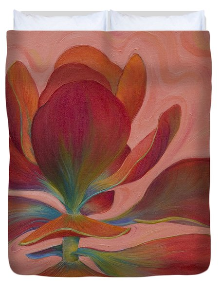 Duvet Cover featuring the painting Strawberry Flapjack by Sandi Whetzel