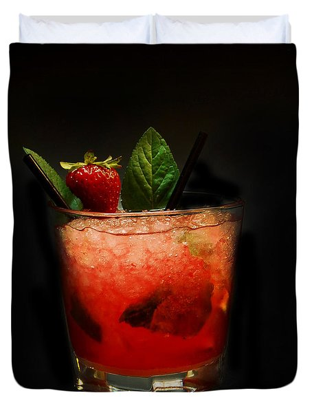 Strawberry Mojito Duvet Cover