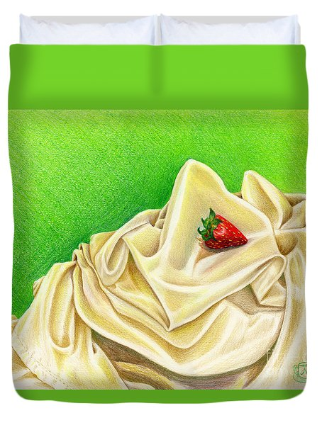 Strawberry Passion Duvet Cover