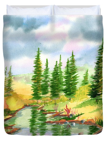 Strawberry Reservoir 2 Duvet Cover