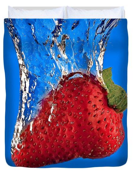 Strawberry Slam Dunk Duvet Cover by Susan Candelario