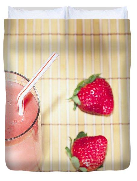 Strawberry Smoothie Duvet Cover