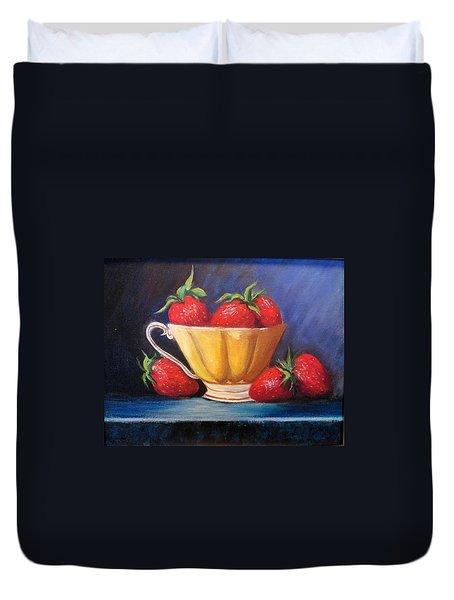 Strawberry Teacup Duvet Cover