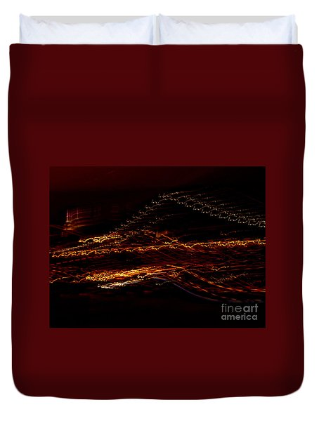 Streaks Across The Bridge Duvet Cover