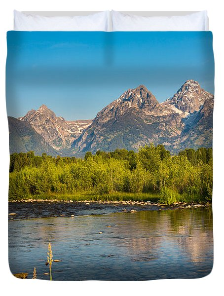 Stream At The Tetons Duvet Cover by Robert Bynum