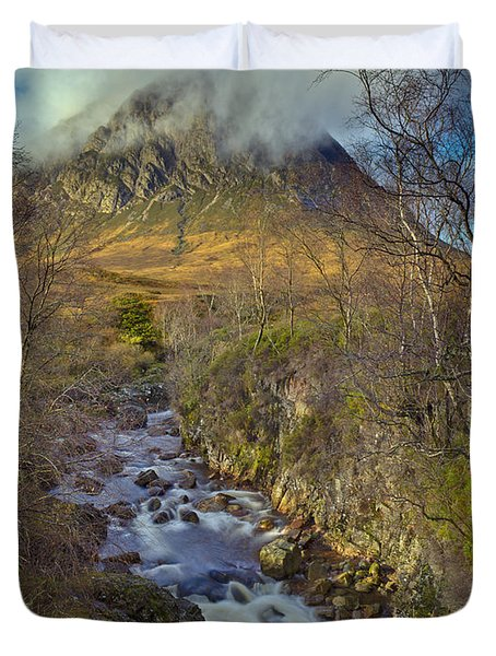 Stream Below Buachaille Etive Mor Duvet Cover